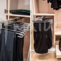 Pantalonero extraíble metálico de 11 varillas