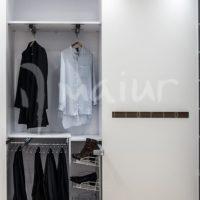 Zapatero lateral + pantalonero metálico extraíble de 10 varillas